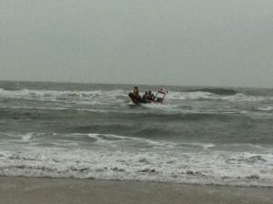 KNRM-reddingboot Meun op zee