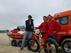 Sandbike voor de Egmondse Reddingsbrigade